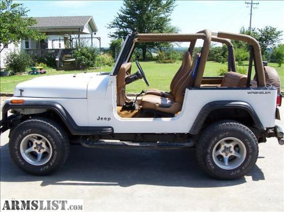 armslist for sale 1995 jeep wrangler white 4x4. Black Bedroom Furniture Sets. Home Design Ideas