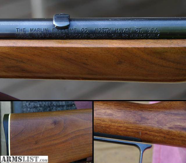For sale marlin 1894m 22 magnum lever action rifle w williams site