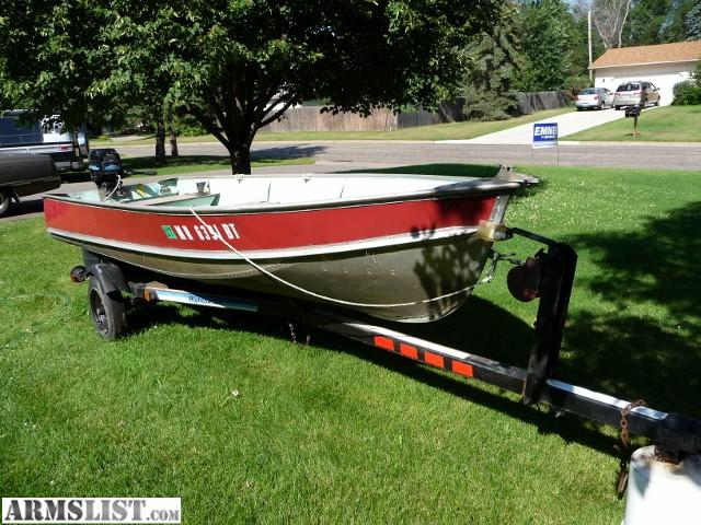 Armslist for sale lund fishing boat w motor and trailer for Lifetime fishing license mn