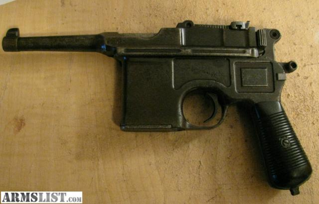 Mauser Bolo Broom Handle For Sale http://www.armslist.com/posts/135302/cleveland-ohio-handguns-for-sale--mauser-broomhandle-bolo-pistol
