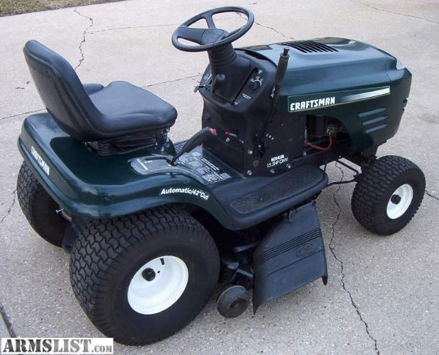 Craftsman Lawn Mower Snow Plow : Armslist for sale trade craftsman lawn tractor w plow