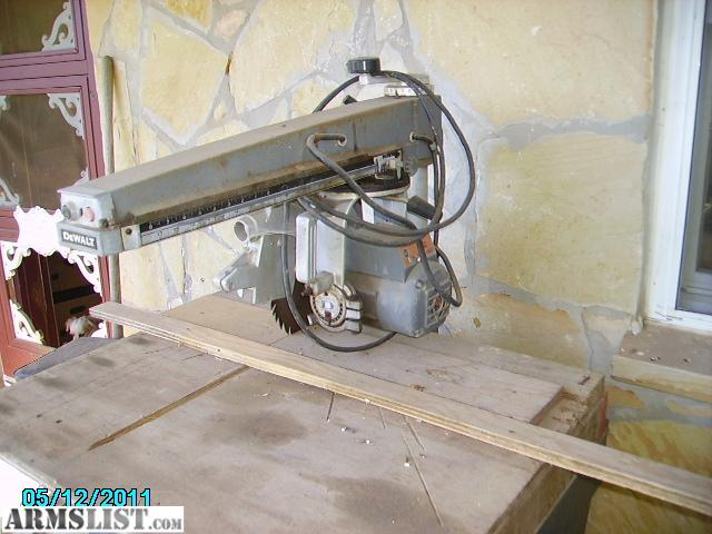 Lever Arm Of Saw : Armslist for sale trade dewalt radial arm saw and stand