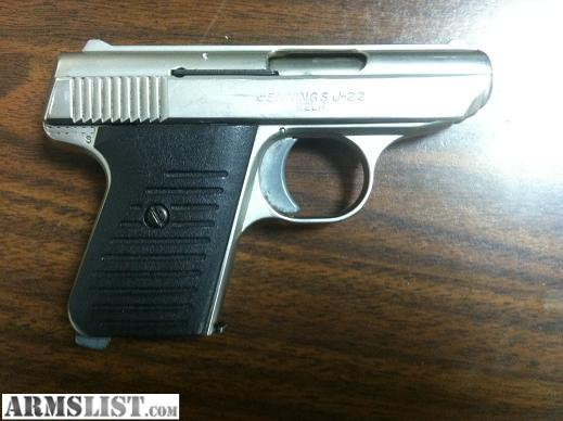 Jennings J 22 Pistol http://www.armslist.com/posts/269657/springfield-missouri-handguns-for-sale-trade--jennings-j-22-pocket-pistol--22lr
