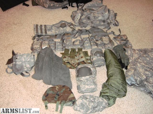 Military gear for sale