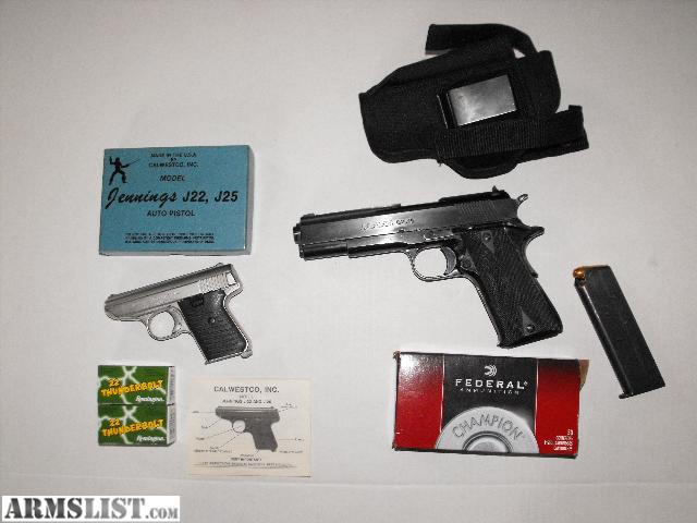 Llama 22 Cal http://www.armslist.com/posts/349270/milwaukee-wisconsin-handguns-for-sale--1911-llama-45-cal---jennings-22-cal-package-deal