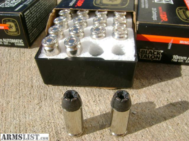 Armslist for sale 10mm black talon ammo by winchester
