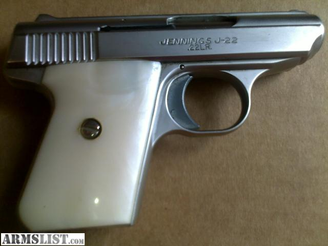 22 Pearl Handle Gun http://armslist.com/posts/369349/huntsville-alabama-handguns-for-sale--jennings-j-22-with-pearl-handles