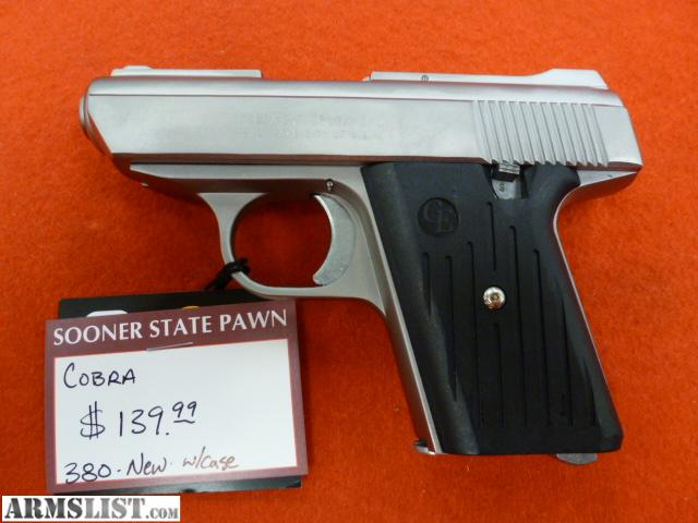 Cobra 380 Pistol http://www.armslist.com/posts/383378/oklahoma-city-oklahoma-handguns-for-sale--new-cobra-380-pistol-w-case