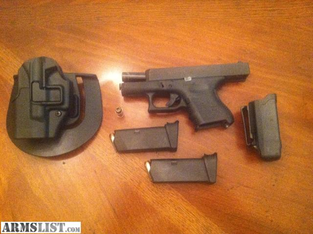 armslist for sale glock 27 w 2 extended grip mags mag holder near mint. Black Bedroom Furniture Sets. Home Design Ideas