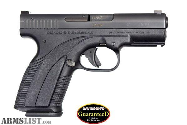 Caracal C Pistol for Sale http://www.armslist.com/posts/411148/kansas-city-handguns-for-sale--caracal-model-c---brand-new-9mm-w-lifetime-guarantee