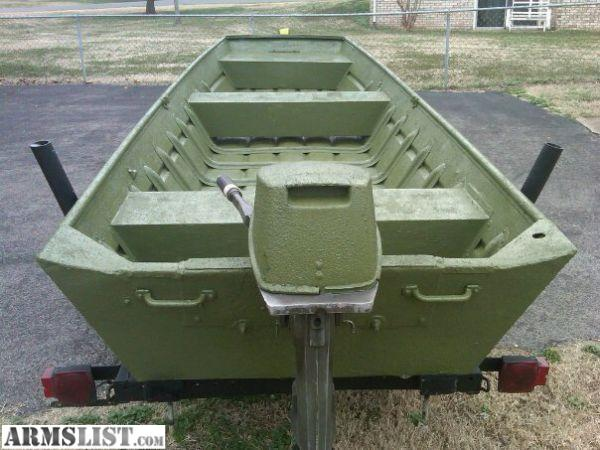 Armslist for sale trade 14ft aluminum jon boat w 15hp for 16 foot aluminum boat motor size