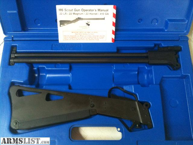 M6 Scout For Sale http://www.armslist.com/posts/416756/nashville-tennessee-rifles-for-sale--springfield-m6-scout---22-410
