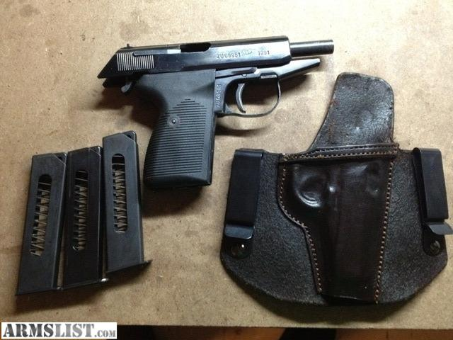 Chambered in 9x18 makarov comes with 3 eight round magazines and a