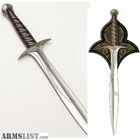 armslist for sale lord of the ring swords united