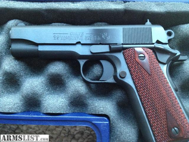 1911 Colt 45 Commander http://www.armslist.com/posts/533356/toledo-ohio-handguns-for-sale-trade--colt-1911--45-commander-80-series-blued