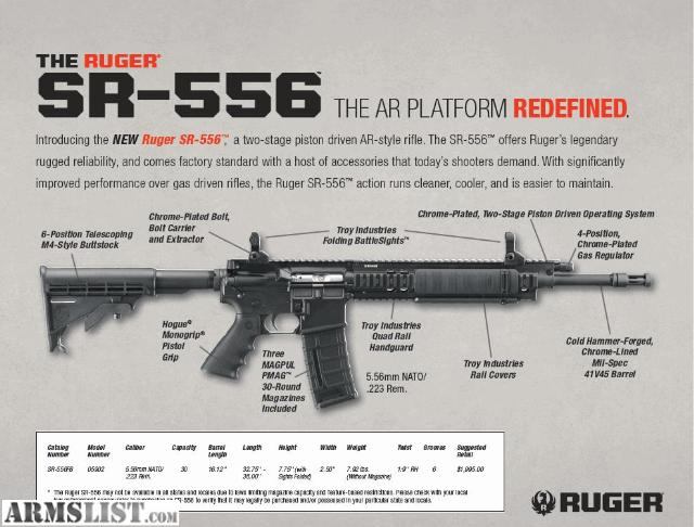 Armslist For Sale Ruger Sr 556 P N 5902 Rug