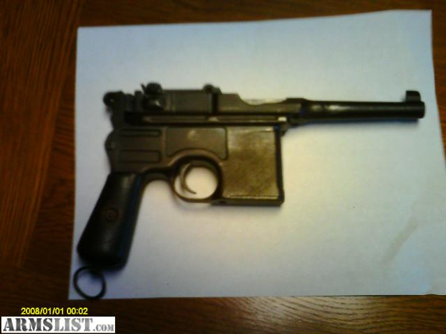 Mauser Bolo Broom Handle For Sale http://www.armslist.com/posts/611657/louisville-kentucky-handguns-for-sale--mauser-broomhandle-bolo