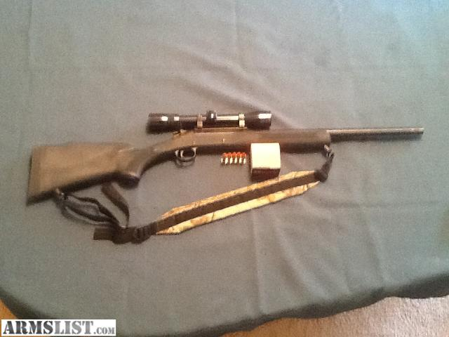 For sale 357 magnum handi rifle with a deerfield 3x9x32 scope with