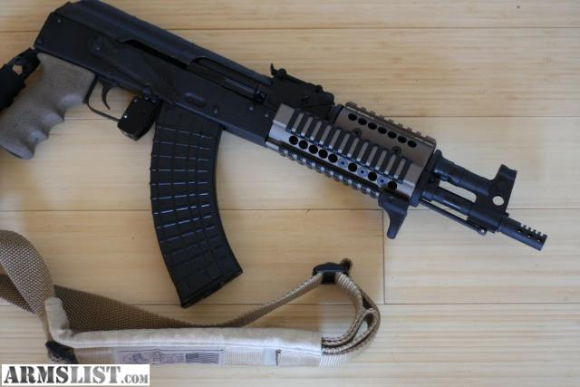 pistol in 7 62x39mm would like to buy one with a sling and quad rail