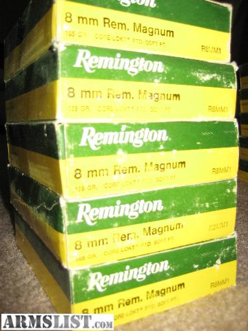 8Mm Remington Magnum for Sale http://armslist.com/posts/663545/colorado-springs-colorado-ammo-for-sale--8mm-remington-magnum-factory-ammunition
