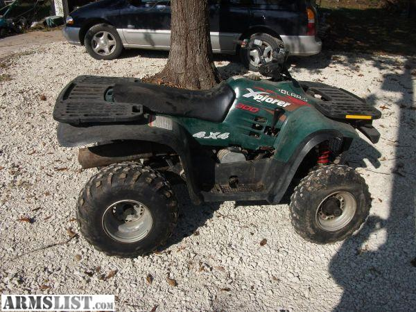 1996 Polaris Xplorer 4X4 http://www.armslist.com/posts/670897/missouri-vehicles-for-sale--1996-polaris-xplorer-300-4x4