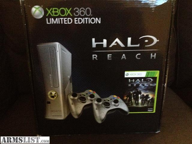 armslist for sale trade xbox 360 halo reach limited edition slim console. Black Bedroom Furniture Sets. Home Design Ideas