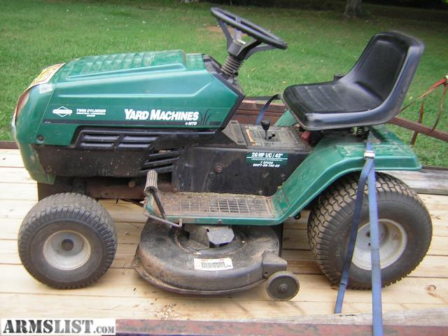 yard machine 20 inch mower