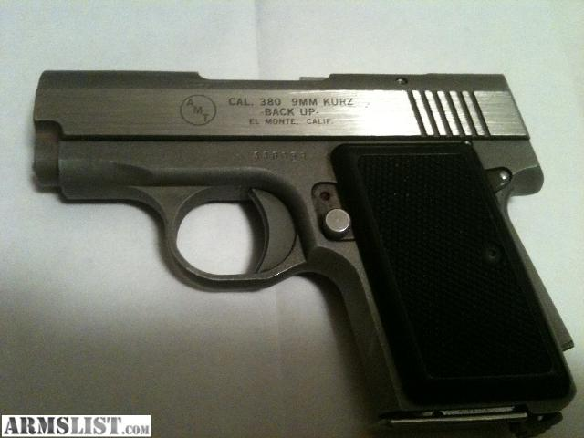 AMT _380 9Mm Kurz Manual http://www.armslist.com/posts/715814/indianiapolis-indiana-handguns-for-sale--amt-backup--380-9mm-kurz