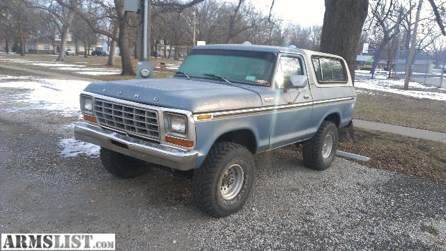 armslist for sale nice lifted 79 ford bronco trade for some nice guns or 3500. Black Bedroom Furniture Sets. Home Design Ideas