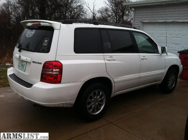 armslist for sale 2002 toyota highlander 2wd with ect snow traction control. Black Bedroom Furniture Sets. Home Design Ideas
