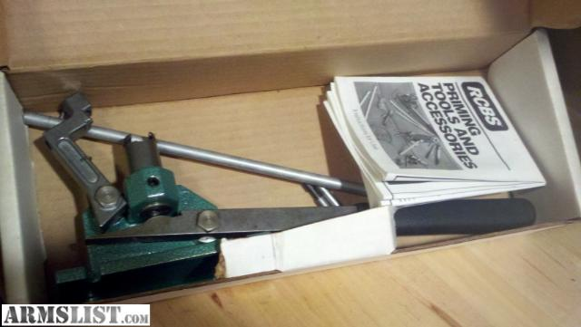 Armslist For Sale Rcbs Automatic Bench Priming Tool Nib