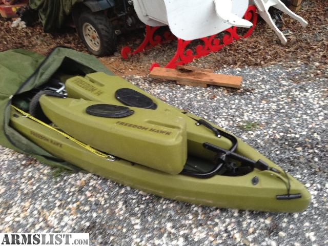 Armslist for sale freedom hawk 14 kayak for Used fishing kayak