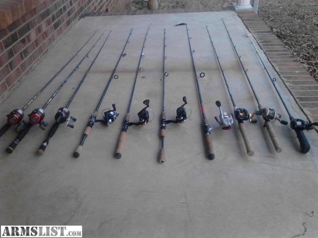 Armslist for sale trade 10 nice fishing rods and reels for Nice fishing rods
