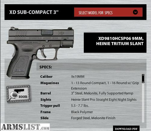 Springfield 9mm xd Price New Springfield xd 9mm