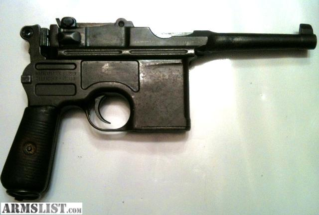 Mauser Bolo Broom Handle For Sale http://www.armslist.com/posts/923308/louisville-kentucky-antiques-for-sale---broomhandle--mauser-bolo-with-stock--c96--7-63-mm-