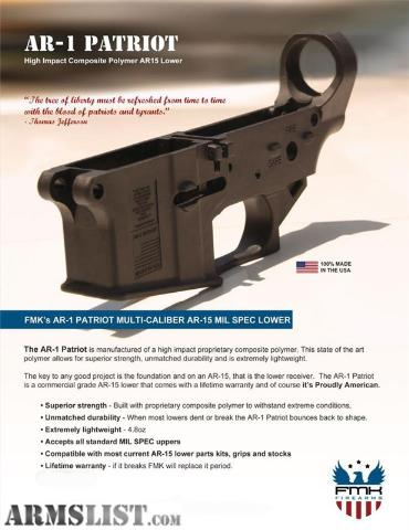 Fmk Lower Receiver