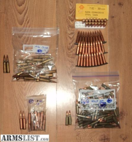 7 62X39 Compared to 7 62X51 http://www.armslist.com/posts/1004086/oklahoma-city-oklahoma-ammo-for-sale--misc--ammo---7-62x39-and-7-62x51---308-