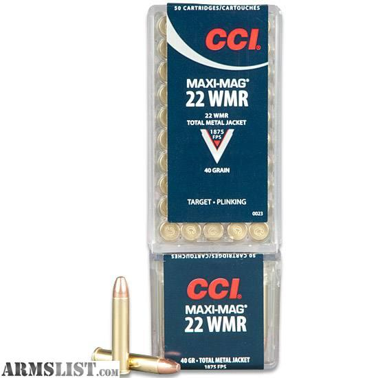 Armslist for sale 22 magnum ammo 400rds cci maximags 40gr