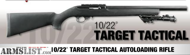 Ruger 10 22 Model 1230 http://armslist.com/posts/1047190/atlanta-georgia-rifles-want-to-buy--ruger-10-22-target-tactical-22lr-black-hogue-overmolded-stock-model--1230
