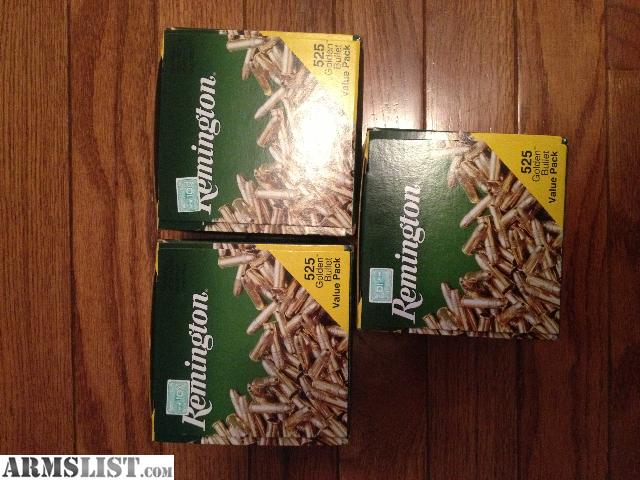 For Sale: .22lr Remington ammo, 1575 rounds