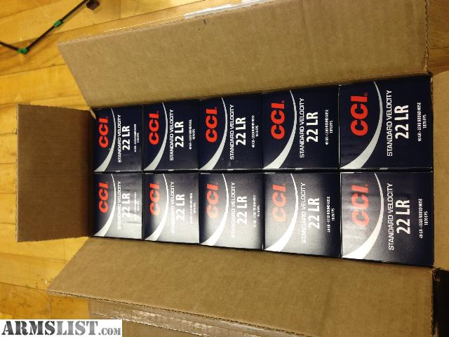ARMSLIST - For Sale: CCI Standard Velocity 22 LR 5000 Rounds640