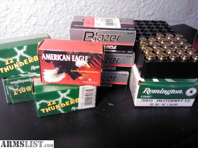 For Sale: (((@))) 22lr & 380 acp ammo (((@)))