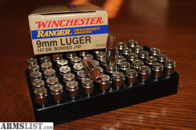 For Sale: Winchester Ranger 9mm 147g JHP