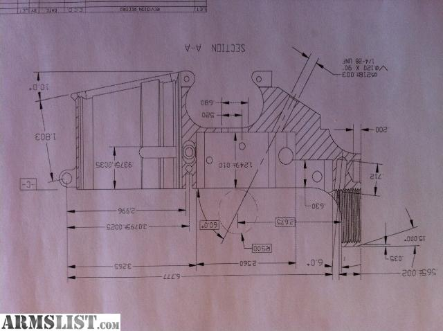 Pin m16 ar15 blueprint forged lower receiver blank listed for Arkansas blueprint