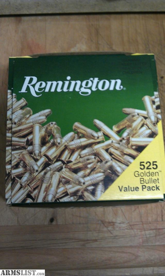 have for sale Remington 22LR unopened bricks of 525 golden bullets