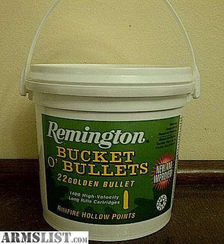 For Sale: .22 LR AMMO - NEW Remington Bucket O' Bullets 22 Golden