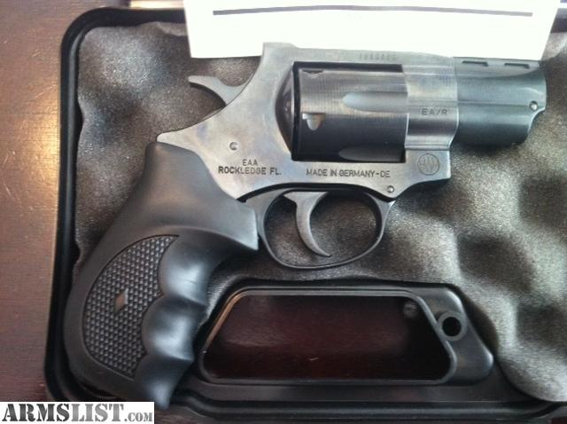 EAA 357 Magnum Snub Nose http://www.armslist.com/posts/1180315/atlanta-georgia-handguns-for-sale-trade--eaa-windicator-357-magnum--2--barrel-like-new-in--box