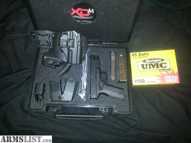 armslist for sale springfield xdm45 2 13 rd mags 250 rds blackhawk serpa holster