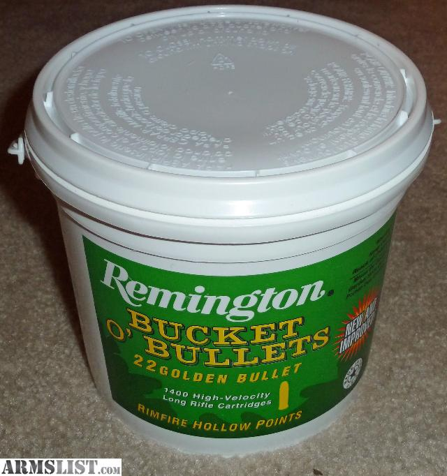 For Sale: Remington Bucket O Bullets 1,400 rounds of .22LR Ammunition