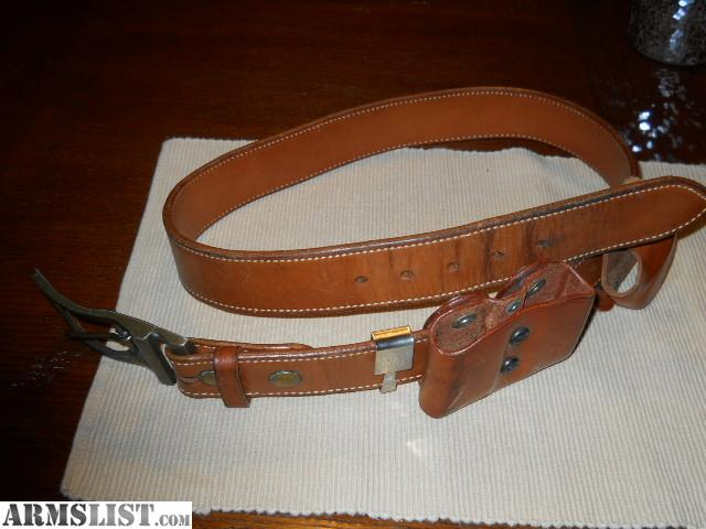 armslist for sale brown leather gun belt